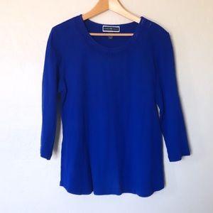 Karen Scott | Cobalt Blue Long Sleeve Top